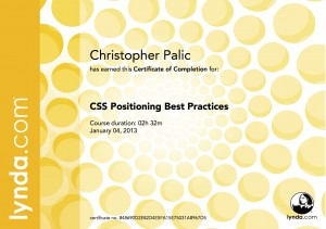 CSS Positioning Best Practices - Certificate Of Completion