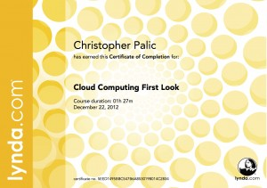 Cloud Computing First Look - Certificate Of Completion