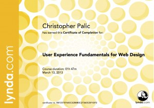 User Experience Fundamentals for Web Design Certificate