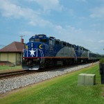 AMTK 75 - NCRR 1810 - Landis NC - trains