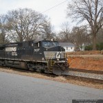 NS 9007 leads P1M to Charlotte.